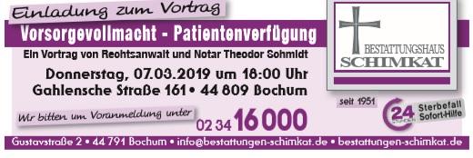 Einladung zum Vortrag Vorsorgevollmacht und Patientenverfügung